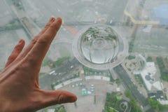 从东方珍珠大厦的上海视图 图库摄影