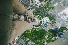 从东方珍珠大厦的上海视图 免版税库存照片