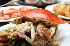 东方纤巧-海鲜膳食 免版税库存图片