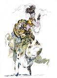 东方舞蹈。 传统服装的女孩 库存照片