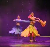 东方舞蹈家土耳其腹部舞蹈这奥地利的世界舞蹈 图库摄影