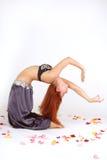 东方舞蹈演员反挠度 库存图片