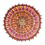 东方装饰手拉的坛场样式 免版税图库摄影