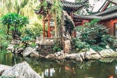 东方非常庭院风景colorfull 库存图片
