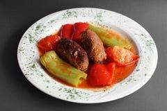 东方食物牛肉和菜 免版税库存图片
