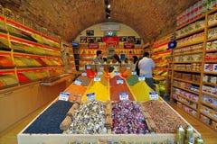 东方香料和茶,盛大义卖市场 图库摄影