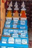 东方香料待售在摩洛哥 免版税库存照片