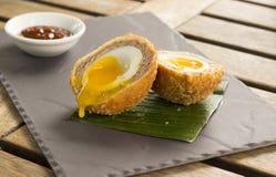 东方鸭子苏格兰煮蛋 图库摄影