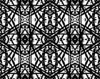 东方黑几何抽象样式或背景 库存例证