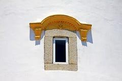 东望洋堡垒灯塔窗口,澳门,中国 库存照片