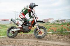 东欧Supermoto冠军2013年 库存照片