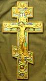 东正教十字架 图库摄影