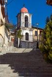 东正教在克桑西、东部马其顿和色雷斯,希腊老镇  免版税库存照片
