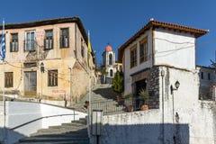 东正教在克桑西、东部马其顿和色雷斯,希腊老镇  库存照片