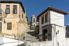 东正教在克桑西、东部马其顿和色雷斯,希腊老镇  免版税库存图片