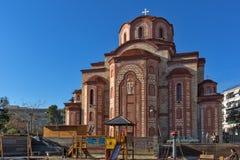 东正教在克桑西、东部马其顿和色雷斯,希腊老镇  库存图片