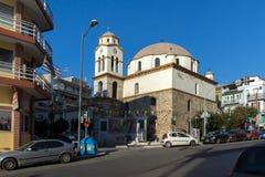 东正教在卡瓦拉、东部马其顿和色雷斯,希腊 库存照片