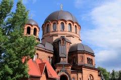 东正教在纳尔瓦,爱沙尼亚 库存照片