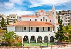 东正教在Saranda,阿尔巴尼亚 免版税库存图片