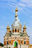 东正教在Uralsk市 库存照片