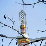 东正教大教堂在阿尔玛蒂,哈萨克斯坦 库存图片