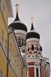 东正教教会在塔林,爱沙尼亚 免版税库存图片