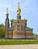 东正教教会达姆施塔特 库存照片