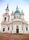 东正教教会门面 Yamburg的StCatherine大教堂 免版税库存图片