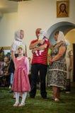 东正教的假日Pentecost的星期天在卡卢加州地区在2016年6月19日的俄罗斯 图库摄影