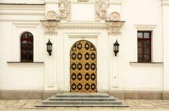东正教的前门 库存照片