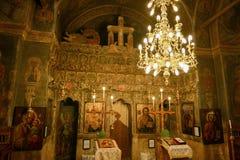 东正教的美妙的内部天花板 免版税图库摄影