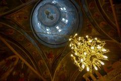 东正教的美妙的内部天花板 免版税库存图片