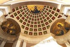 东正教的装饰细节在希腊 免版税库存照片