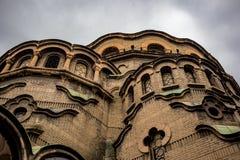 东正教,索非亚,保加利亚低角度视图  免版税库存照片