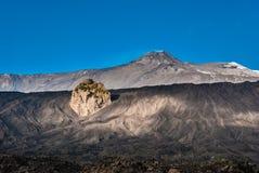 从东翼看见的火山Etna山顶火山口 库存照片