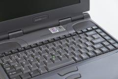 东芝卫星2100CDS膝上型计算机-细节 图库摄影