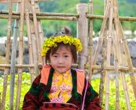 东范,河江市,越南, 2017年11月14日, :种族Hmong的孩子在河江市,越南 河江市是家庭对主要Hmong 免版税库存照片