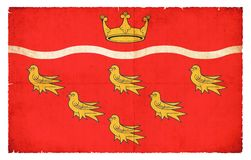 东萨塞克斯郡大英国难看的东西旗子  免版税库存图片