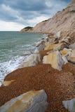 东萨塞克斯郡海岸,英国 库存图片
