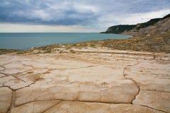 东萨塞克斯郡海岸,英国 库存照片