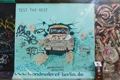 东边画廊在柏林,德国 库存照片