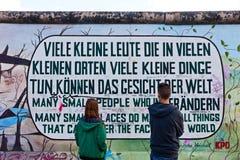 东边画廊在柏林,德国 免版税库存照片