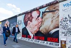 东边画廊在柏林,德国 免版税库存图片