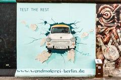 东边画廊在柏林 免版税图库摄影
