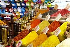 东部义卖市场-香料、咖啡土耳其人和手 免版税库存照片