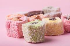 东部五颜六色的甜点 库存图片
