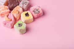 东部五颜六色的甜点 库存照片