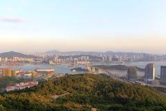 东部俯视haicang桥梁 免版税库存照片