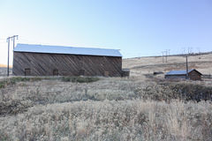 东部华盛顿山麓小丘的谷仓 库存照片