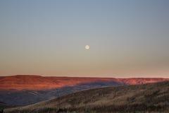 东部华盛顿月亮上升 免版税库存照片